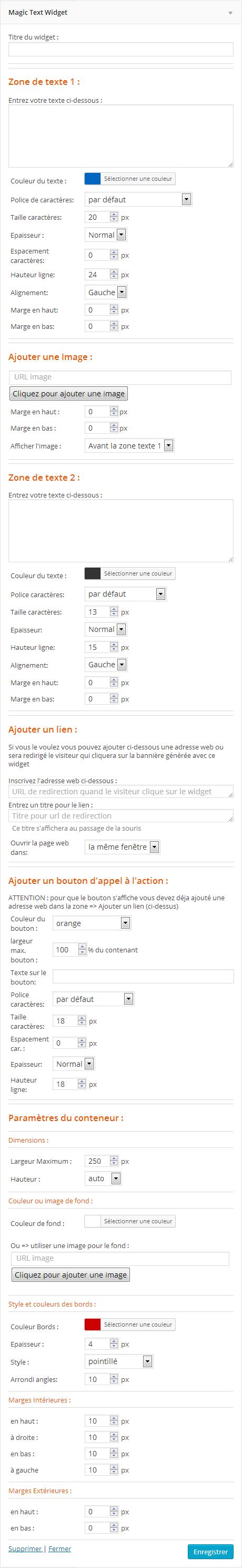 Widget magic-text-widget