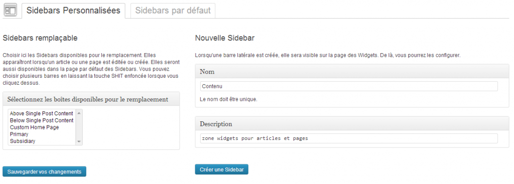 creation sidebar avec custom sidebar plugin