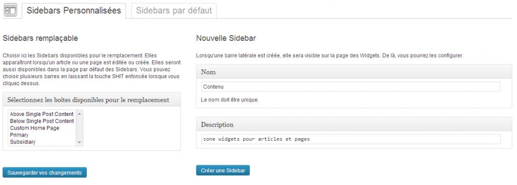 creation sidebar avec custom sidebar plugin