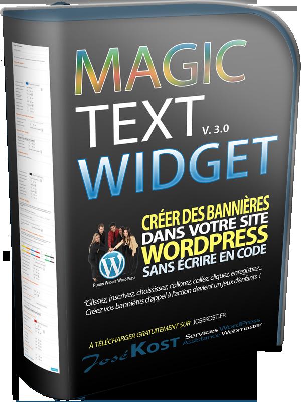 plugin wordpress magic text widget